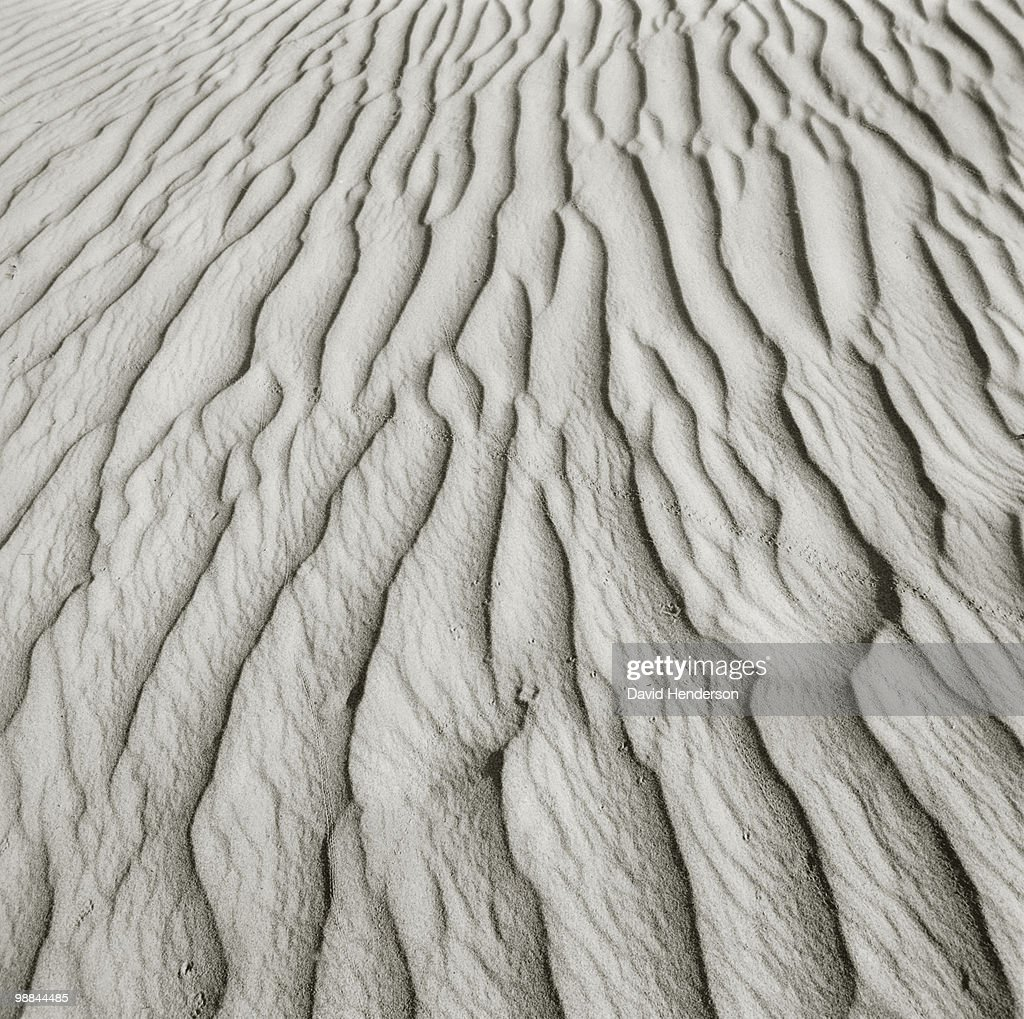 Close up of patterns in sand : Stock Photo