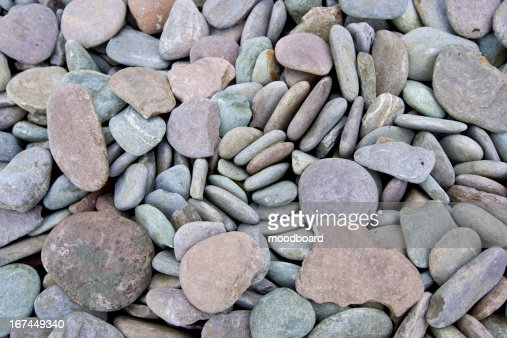Close up of pebbles at a beach : Foto de stock