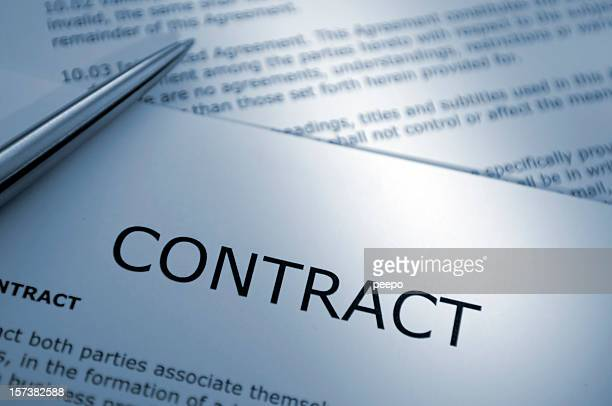 Close Up of Pen on Contract