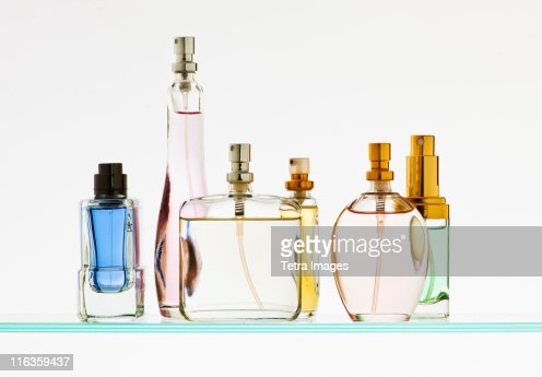Close up of perfume sprayers