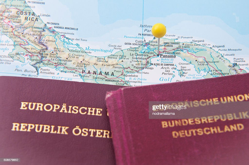 Close Up of Pin on the map, Panama, Central America. : Stock Photo