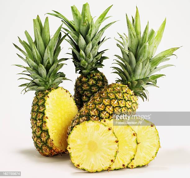 Close up of pineapples