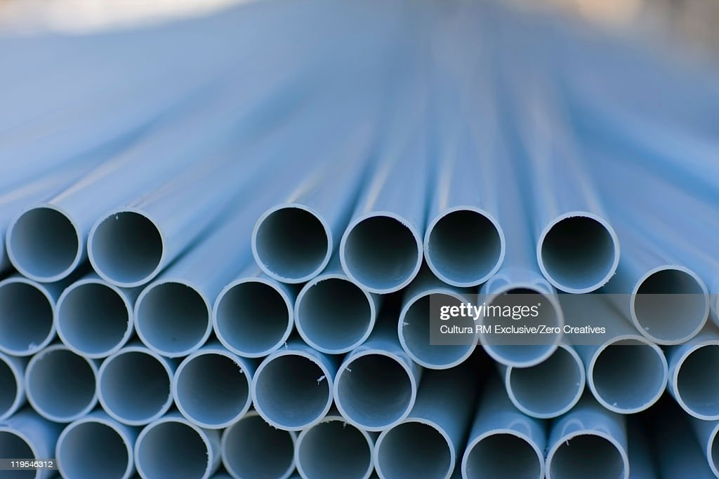 Close up of plastic tubes