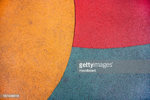 Close up of playground colored ground : Stock Photo