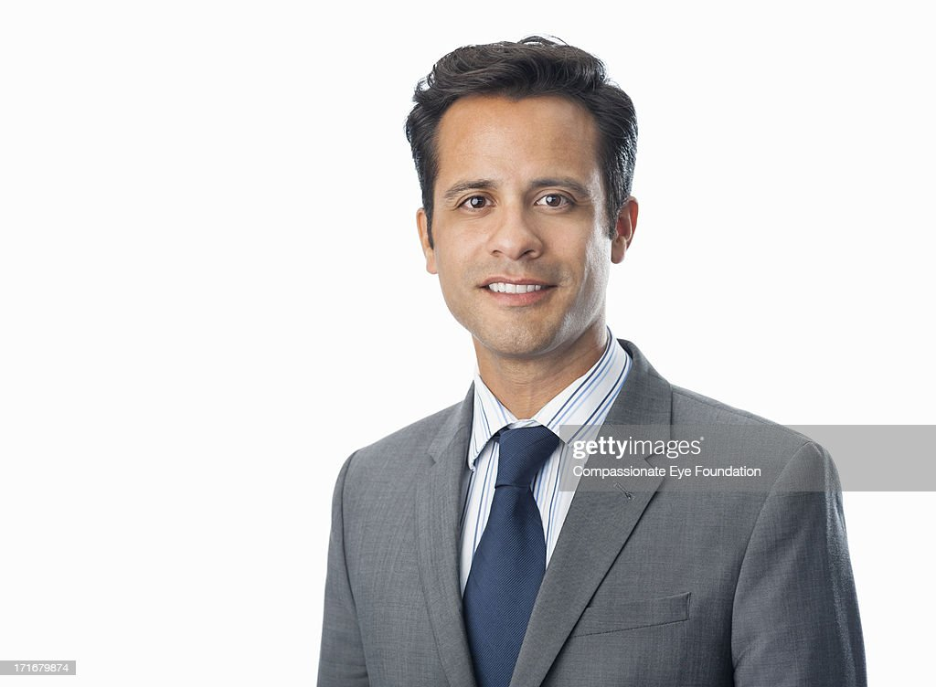 Close up of portrait of smiling businessman : Photo