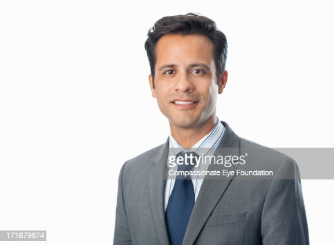 Close up of portrait of smiling businessman : Foto de stock