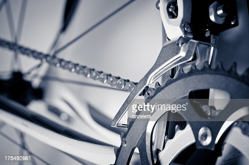 Close up of racing bicycle