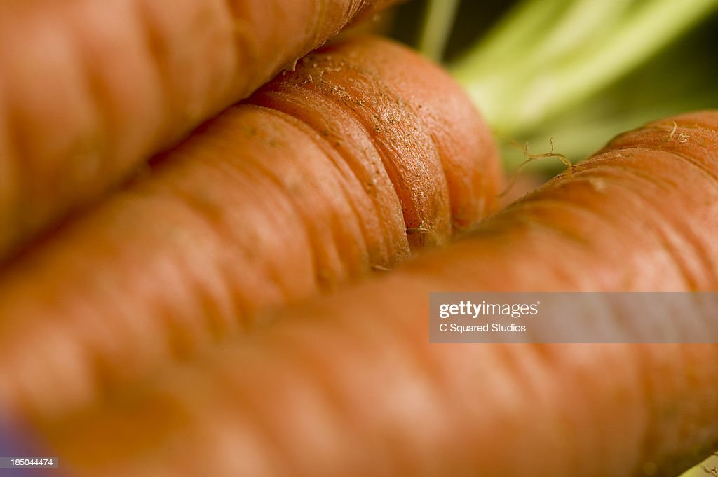 Close up of Raw Carrots : Stock Photo