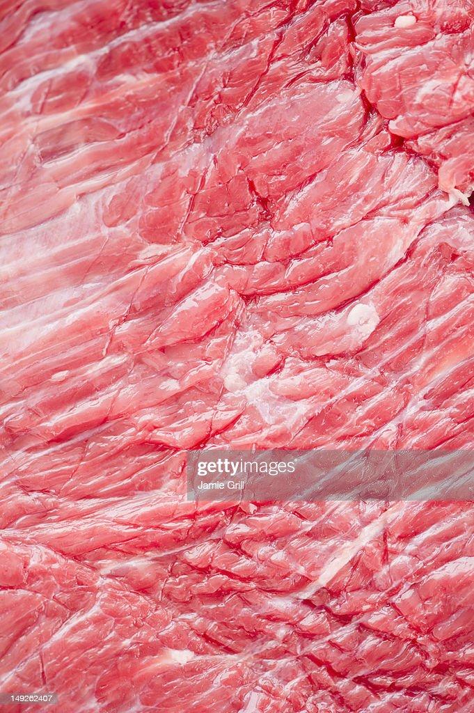 Close up of raw meat, studio shot