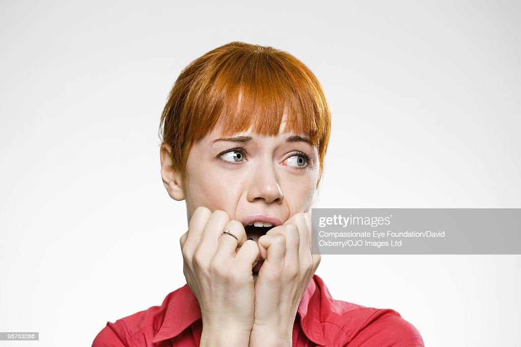 Close up of red haired woman  : Stock Photo