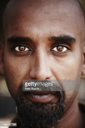 Close up of reflection in mans eyes : Stock Photo