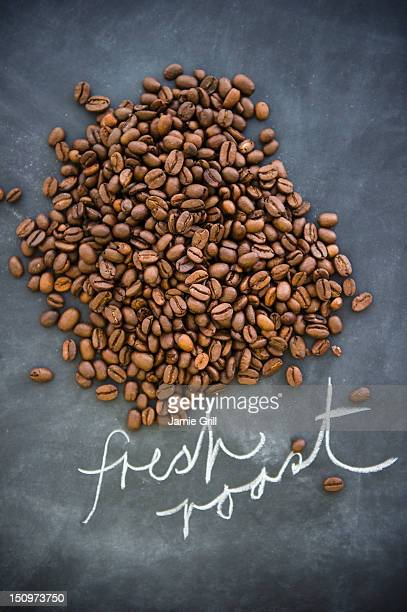 Close up of roast coffee beans