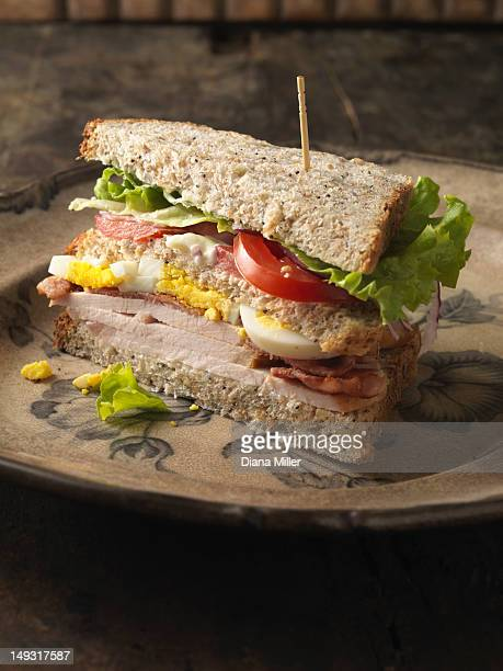 Close up of sandwich on plate