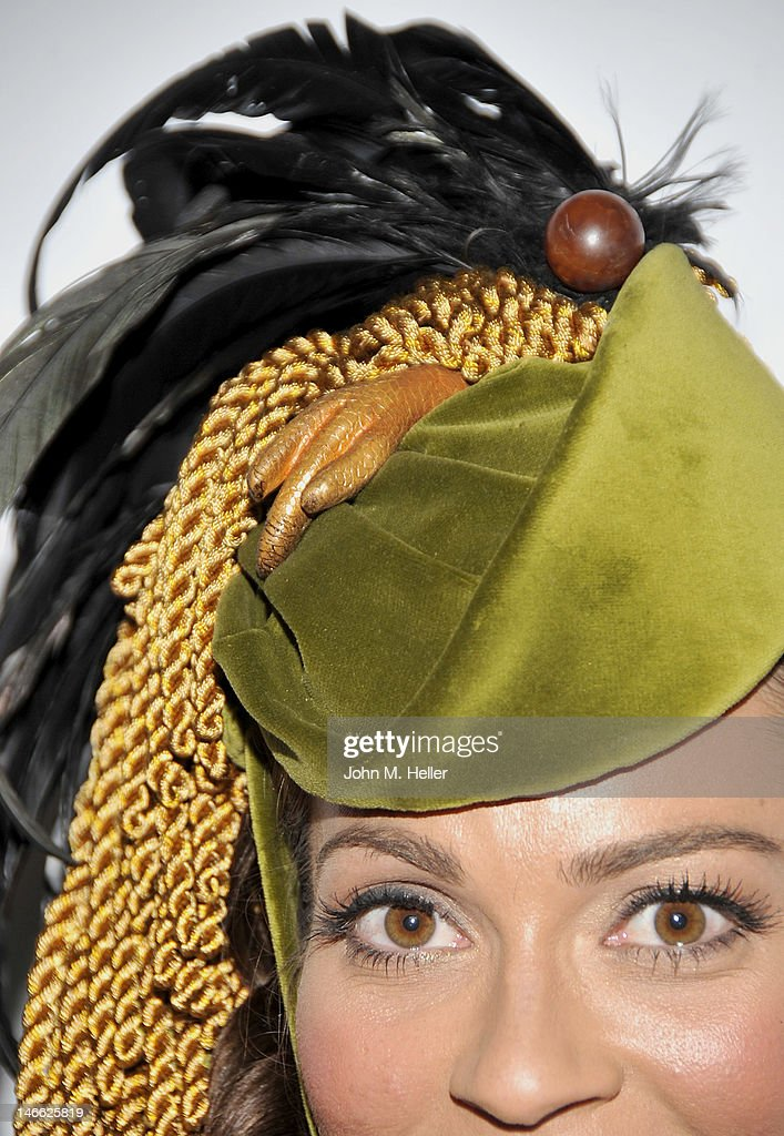 Close up of Scarlett O'Hara's hat with a chicken foot as decoration in the movie 'Gone With The Wind' at The Costume Council Of LACMA Celebrates The...
