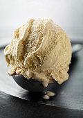 Close up of scoop of ice cream