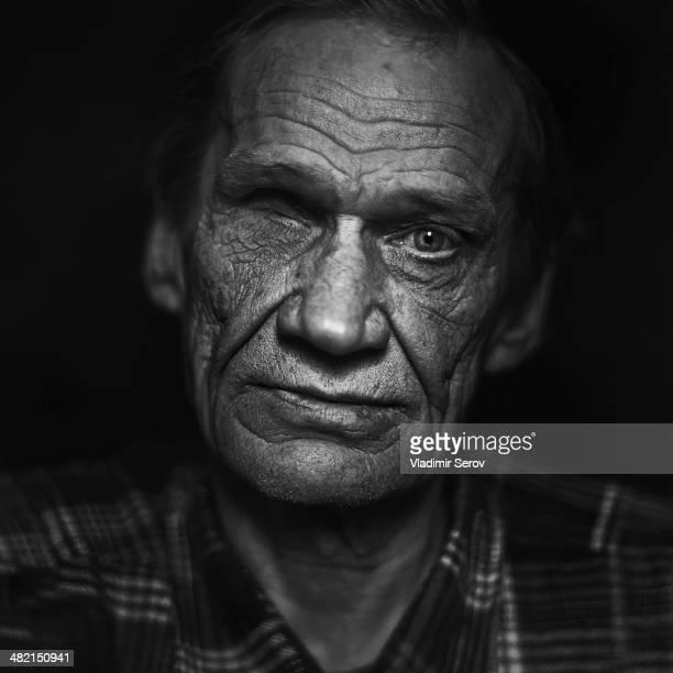 Close up of Senior Caucasian man's face