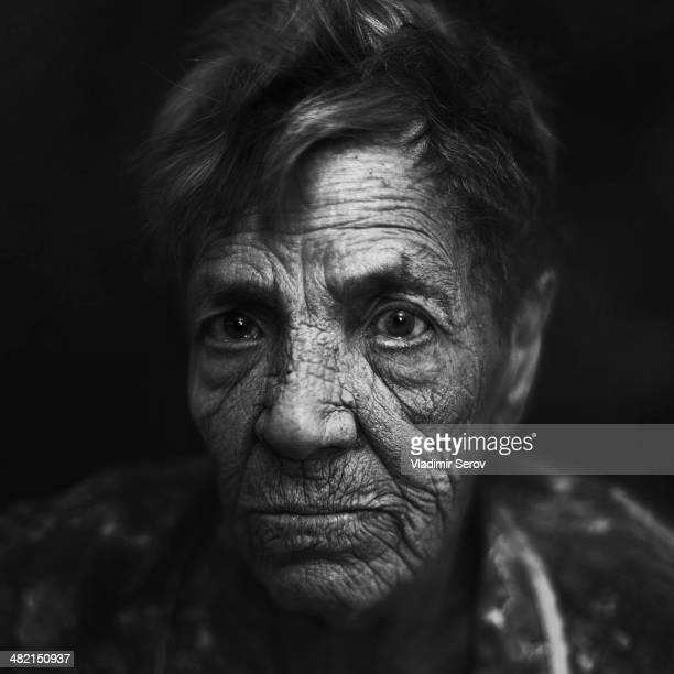 Close up of Senior Caucasian woman's face