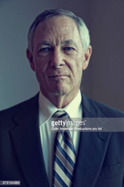 Close up of serious Caucasian businessman