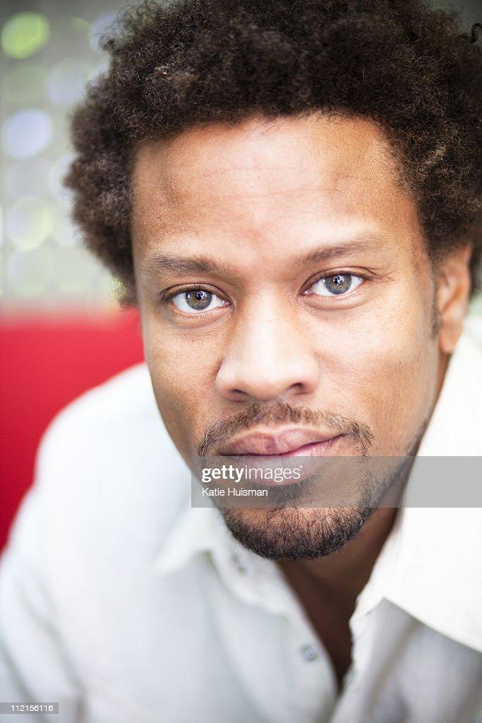 Close up of serious man : Stock Photo