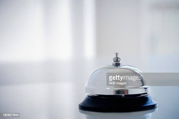 Close up of service bell on desk