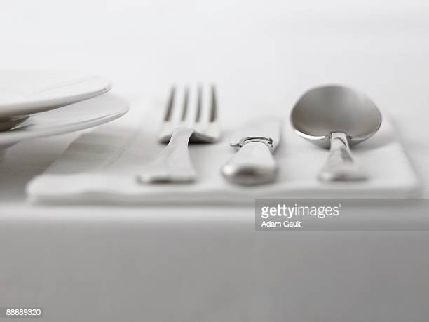 Close up of silverware