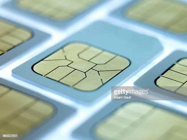 Close up of sim cards