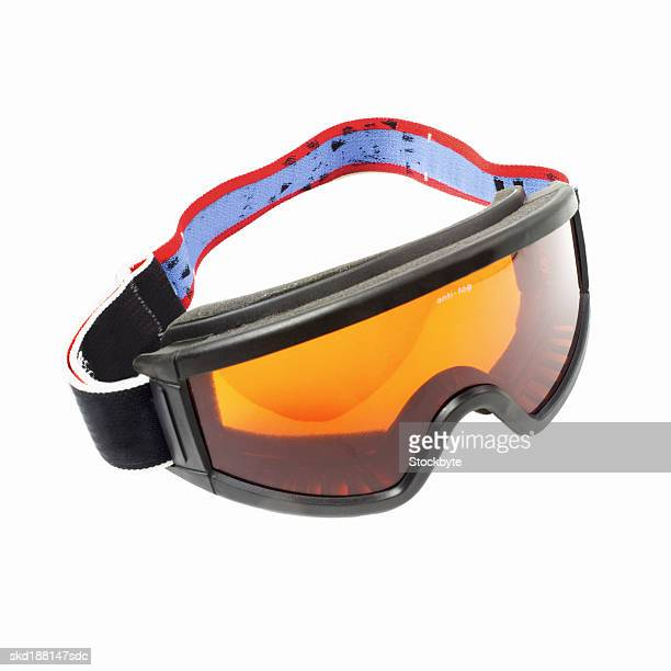 Close up of skiing goggles