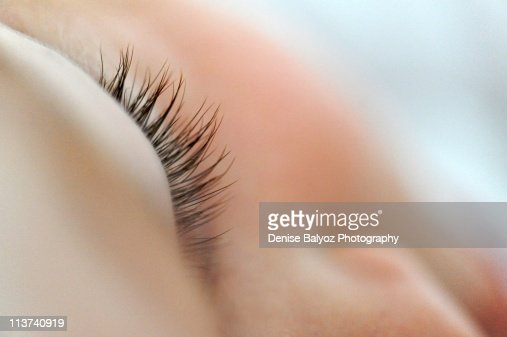 Close up  of sleeping baby eyelashes : Stock-Foto