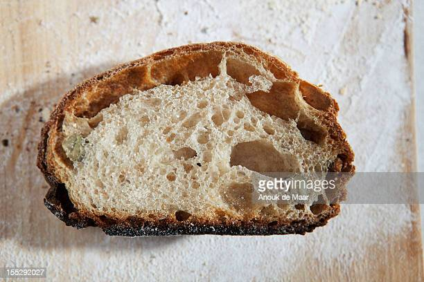 Close up of sliced loaf of bread