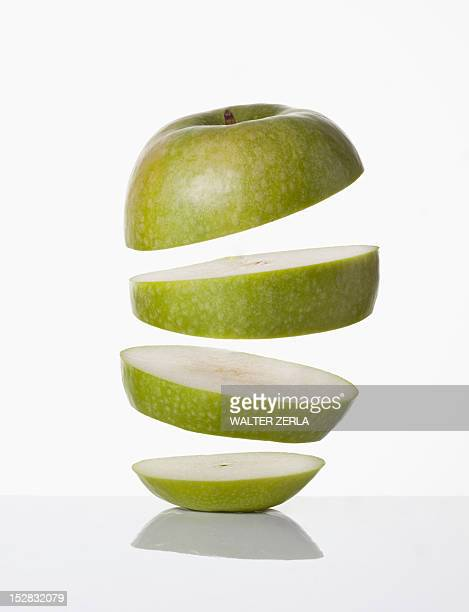 Close up of slices of apple