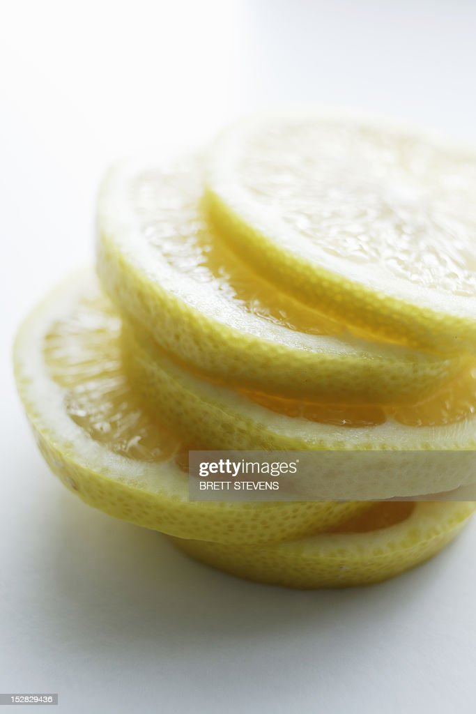Close up of slices of lemon : Stock Photo