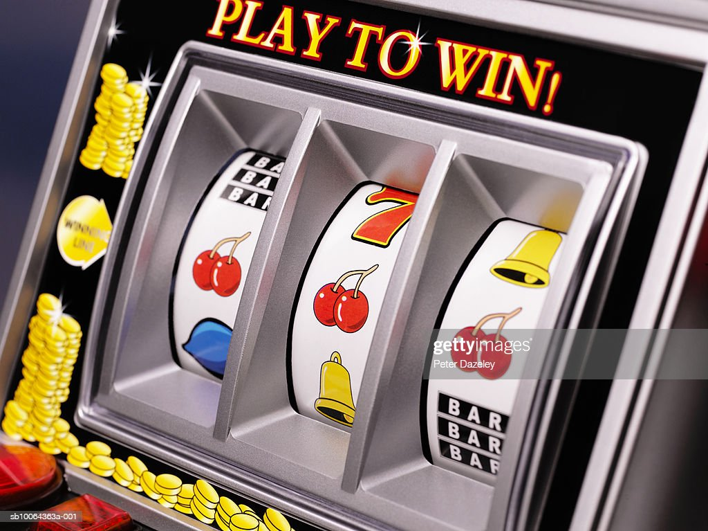 Close up of slot machine : Stock Photo