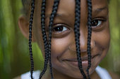 Close up of smiling African girl