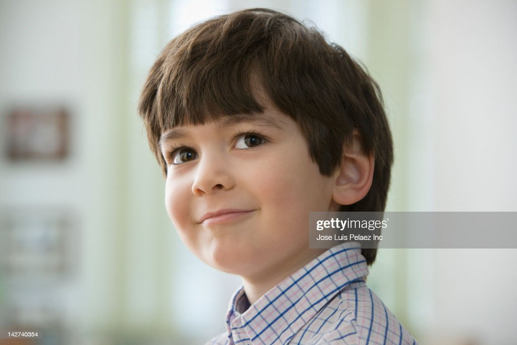 Close up of smiling boy : Stock Photo
