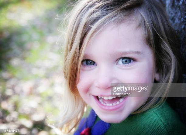 Close up of smiling little girl