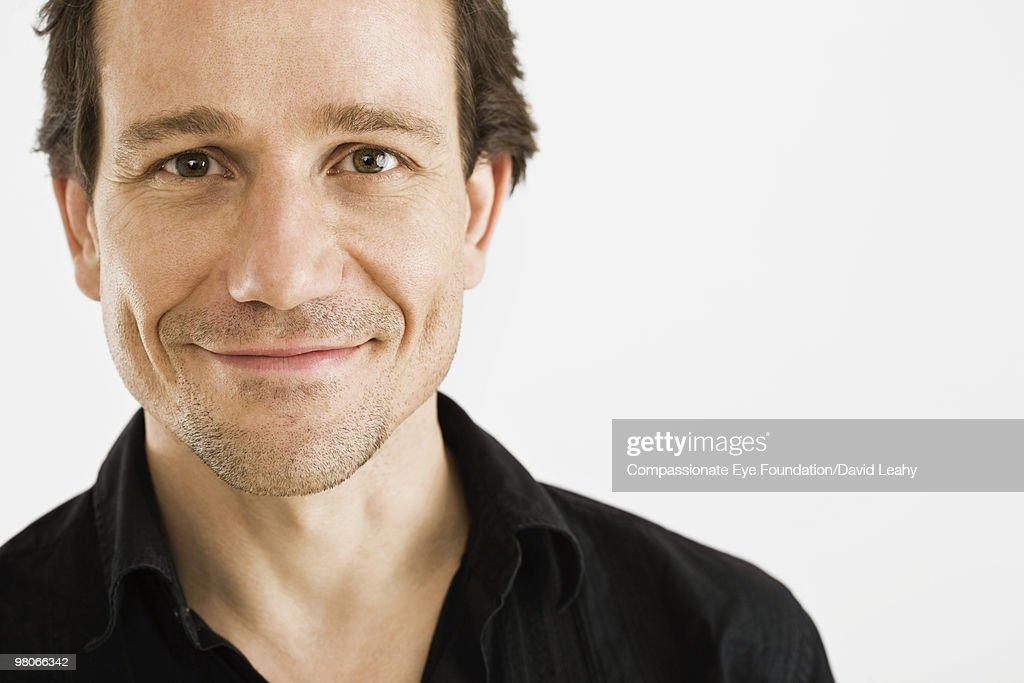 close up of smiling man : Foto de stock