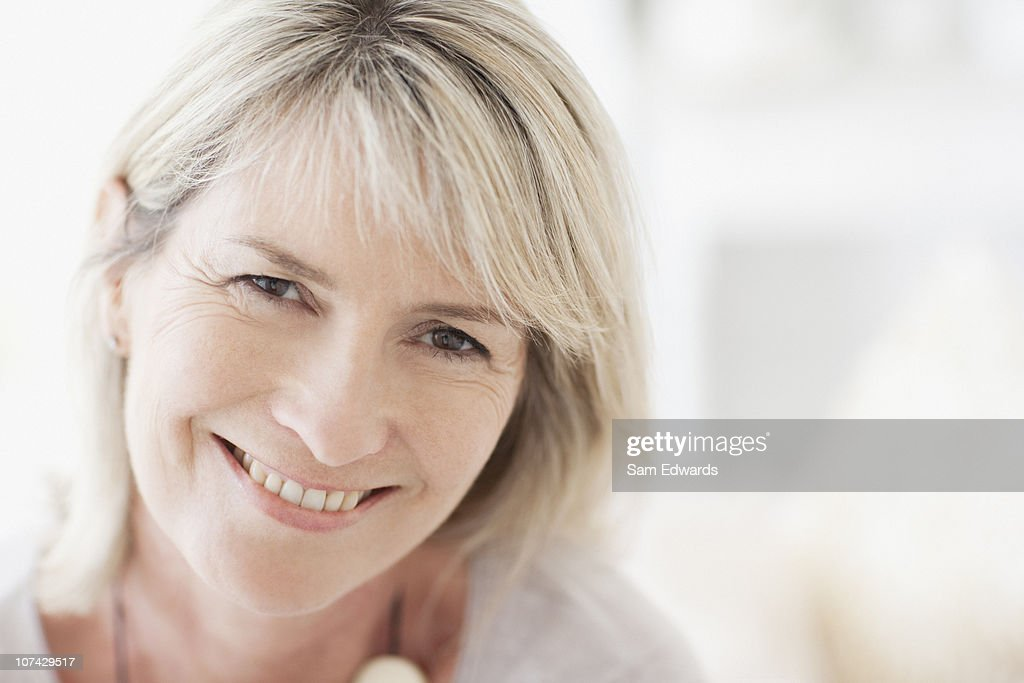 Close up of smiling woman : Stock Photo