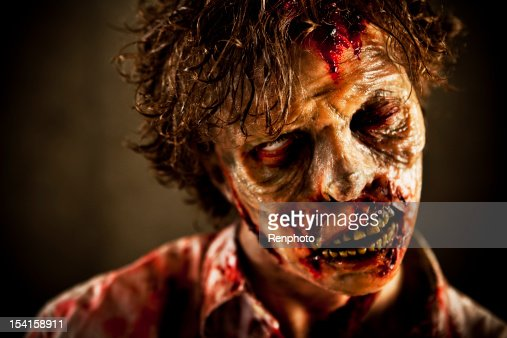 Close Up of Special Effects Zombie Face and Makeup