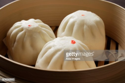 Close up of steamed buns, (bao) : Stock Photo