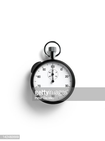 Close up of stopwatch with copy space