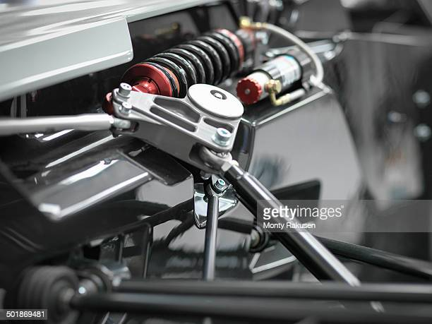 Close up of supercar suspension