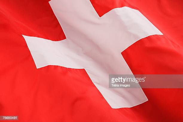 Close up of Swiss flag