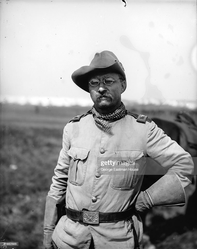 Close up of Teddy Roosevelt in Rough Rider outfit, United States