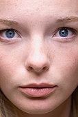 Close up of teenage girls face