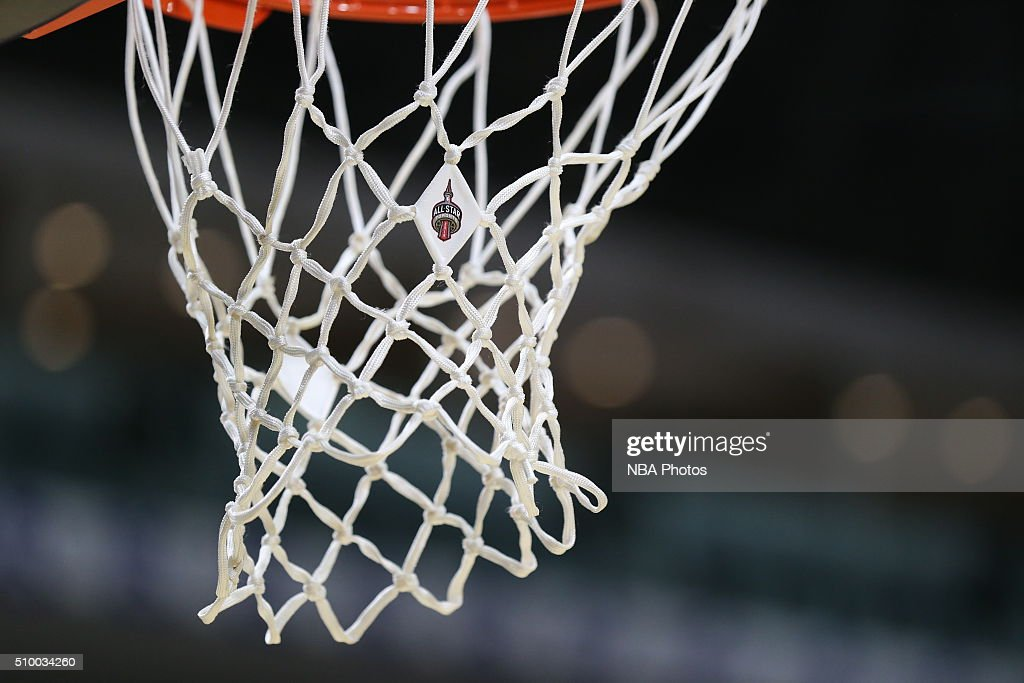 A close up of the All-Star logo on the net during the NBA D-League All-Star Game 2016 presented by Kumho Tire as part of 2016 All-Star Weekend at the Ricoh Coliseum on February 13, 2016 in Toronto, Ontario, Canada.