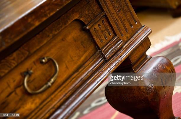 Close up of the corner desk