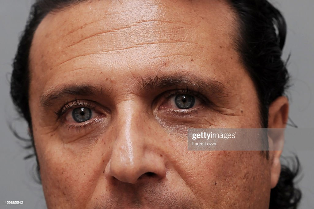 A close up of the eyes of Captain of Costa Concordia <a gi-track='captionPersonalityLinkClicked' href=/galleries/search?phrase=Francesco+Schettino&family=editorial&specificpeople=8797246 ng-click='$event.stopPropagation()'>Francesco Schettino</a> while posing for a photo during a break of the hearing in the court for his trial, where he gave evidence for the first time, on December 3, 2014 in Grosseto, Italy. <a gi-track='captionPersonalityLinkClicked' href=/galleries/search?phrase=Francesco+Schettino&family=editorial&specificpeople=8797246 ng-click='$event.stopPropagation()'>Francesco Schettino</a> is facing charges of manslaughter, causing a maritime disaster and abandoning ship, following the sinking of the Costa Concordia on January 13, 2012, which left 32 people dead.
