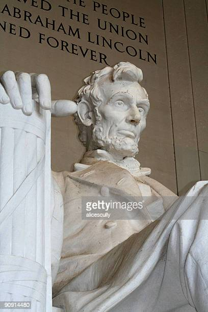 Close up of the Lincoln Memorial