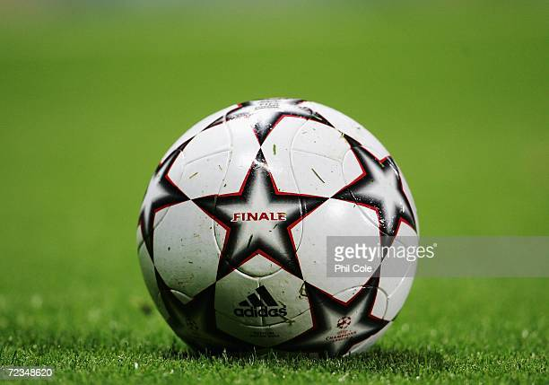 Close up of the match ball during the UEFA Champions League Group G match between Arsenal and CSKA Moscow at The Emirates Stadium on November 1 2006...