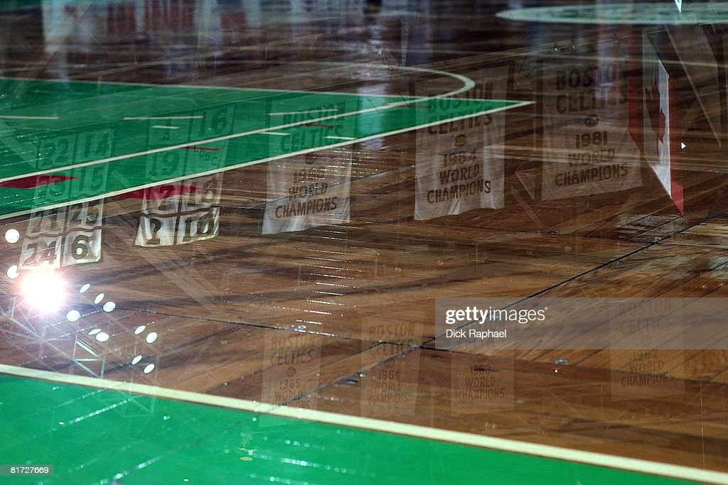 A close up of the Parquet floor circa 1990 at the Boston Garden in Boston Massachusetts NOTE TO USER User expressly acknowledges and agrees that by...
